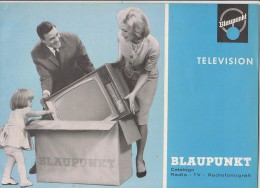 PFU/39 CATALOGO RADIO TV RADIOFONOGRAFI BLAUPUNKT Anni '60/CORTINA/ARKONA/OSLO/SULTAN - Television
