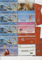 Lot De Tele Cartes De Belgique En Bon état  Sport, Gymnastique, Bateau Christophe Colombus, XtMas Noël - Belgien