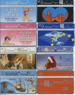 Lot De 8 Télécartes De Belgique En Bon état  TOUTES DIFFERENTES - Belgique