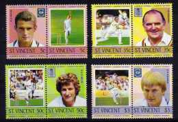 St Vincent - 1985 - Leaders Of The World/Cricketers - MNH - St.Vincent (1979-...)