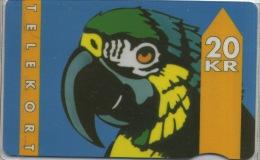 Telecarte DK  Perroquet Papagay - Perroquets