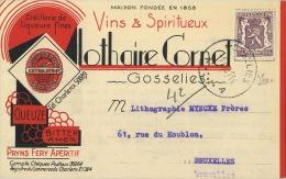 Gosselies :  Cornet (  Vins & Spiritueux )    Reclame  2 Scans - Non Classés