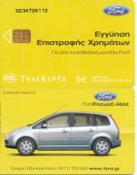 GREECE PHONECARD FORD FOCUS C-MAX-X1754- 40000pcs-4/04-USED - Grecia