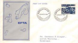 DANIMARCA- DANEMARK . FDC 1967 . EFTA 2/3/67 COPENHAGUE V - FDC