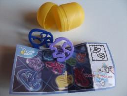 Sor149 Sorpresa Sorpresina Kinder Ferrero Magic FT083 Trottole Go Move, Elefante, Lumaca, Completo Cartina Ovetto - Montables