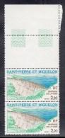 St Pierre Et Miquelon MNH Scott #450 Margin Pair 2.20fr Vigie Dam - Gum Bend Lower Stamp - St.Pierre Et Miquelon