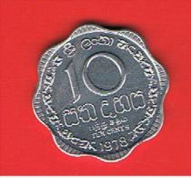 SRI LANKA -  10 Cents 1978 SC  KM140a - Sri Lanka