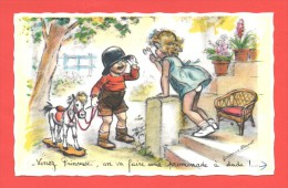 Carte Germaine Bouret  Venez Princesse,on Va Faire Une Promenade à Dada !....  N° 1207 - Ilustradores & Fotógrafos