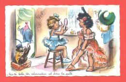 Carte Germaine Bouret   Fais-toi Belle,ton Admirateur Est Dans La Salle   N° 1206 - Ilustradores & Fotógrafos