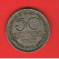 SRI LANKA -  50 Cents 1975 Circulada  KM135.1 - Sri Lanka