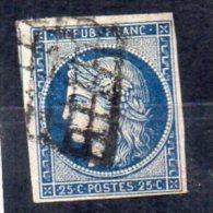 FRANCE    N°4   Ob  Grille - 1849-1850 Cérès