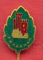 F2312 / F.K. KARNAN - Trademarks - Medieval Tower In Helsingborg, Sweden  C.C. Sporrong Co - STOKHOLM - Badge Pin - Marche
