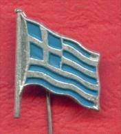 F2333 / FLAG - Greece Grece Griechenland Grecia  - Badge Pin - Pin's