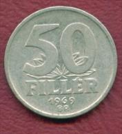 F2729 / - 50 Filler - 1969 -  Hungary Hongrie Ungarn - Coins Munzen Monnaies Monete - Hungary