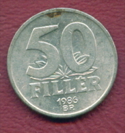 F2732 / - 50 Filler - 1986 -  Hungary Hongrie Ungarn - Coins Munzen Monnaies Monete - Hungary