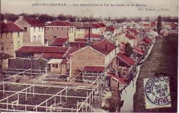 CPA Couleur 94 ARCUEIL CACHAN Les Blanchisseries Sur Les Bords De La Bièvre Datée 1905 - Arcueil