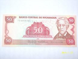 BANCONOTE   NICARAGUA  50  CENTAVOS  DE CORDOBAS    FIOR DI STAMPA - Nicaragua