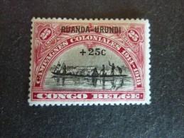 RUANDA-URUNDI, ann�e 1925, YT n� 77 neuf, trace charni�re, tr�s bon �tat