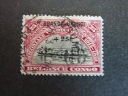 RUANDA-URUNDI, ann�e 1925, YT n� 78 oblit�r�, trace charni�re, tr�s bon �tat