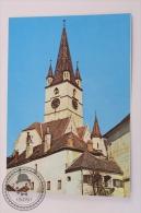 Postcard Romania - Sibiu - Evangelical Church - Romanian Post - Romania