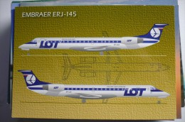AIRLINE ISSUE / CARTE COMPAGNIE     LOT   POLISH AIRLINES    ERJ 145 - 1946-....: Moderne