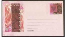 AUSTRALIA - 1996 Hearts & Flowers Aerogramme Mint **     ASC A124 - Aerogrammes