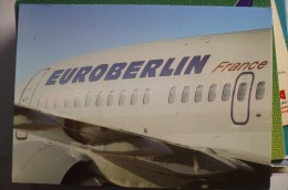 AIRLINE ISSUE / CARTE COMPAGNIE     EUROBERLIN FRANCE   B 737 300 - 1946-....: Moderne