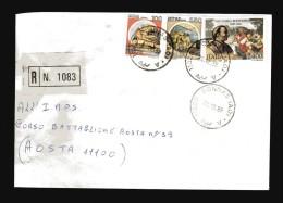 Italia-  St. Post. - 1988 - Racco.- A. R. Timbro 29/12/1988.San.Carlo Borromeo  £ 2400+ Castelli - 6. 1946-.. Repubblica