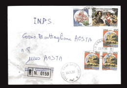 Italia-  St. Post. - 1988 - Racco.- A. R. Timbro 29/12/1988.San.Carlo Borromeo  £ 2400+ Castelli - 1981-90: Storia Postale