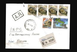 Italia-  St. Post. - 1988 - Racco.- A. R. Europa £ 750+ Castelli. Vedi Descrizione - 6. 1946-.. Repubblica
