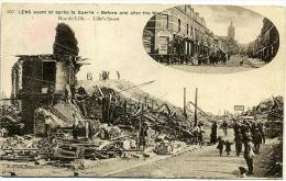 62 LENS Avant Et Après La Guerre - Rue De Lille - Lens