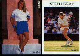 (Tennis)  GRAF, Steffi - Lot De 2 Cartes Postales - Photos - Trading Cards