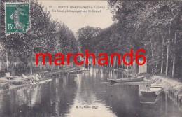 Aube Romilly Sur Seine Un Coin Pittoresque Sur Le Canal éditeur Bf   Taxé 10 Cts Dos  Lavoir Laveuses Petit Plan - Romilly-sur-Seine