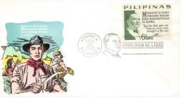"""Filippine- Manyla 1965 FDC """"So Live That You Can Look At Every Man Straight In The Eye"""" - Filippine"""