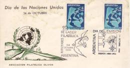 "ARGENTINA FDC 1964 "" Dia De Las NacionesUnida"" BuenosAires"" - Due Annulli - FDC"