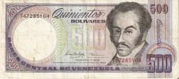BILLETE DE VENEZUELA DE 500 BOLIVARES DEL AÑO 1998 (BANKNOTE) - Venezuela
