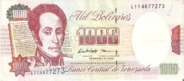 BILLETE DE VENEZUELA DE 1000 BOLIVARES DE FEBRERO DEL 1998 (BANKNOTE) - Venezuela