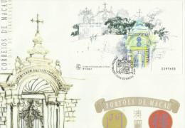 Macau 1998 Traditional Gates Mini Sheet Number 0297633 Souvenir Card FDC - FDC