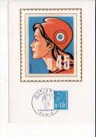 """1971  -  Carte Maximum Card / Cachet à Date Premier Jour  """"Marianne De Béquet""""  Sur N° 1663 - 1970-79"""