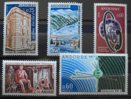 ANDORRE 1965-67 - Du N° 174 Au 177 Et Le 183 - 5 TIMBRES NEUFS** Y&T 19,50€ - French Andorra