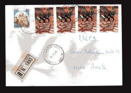 Italia-  St. Post. - 1988 - Racco.- A. R. Roma 88 4  £ 750+ Castello - 1981-90: Storia Postale