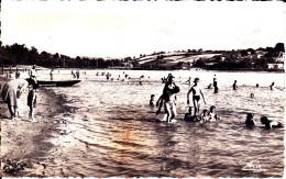 CPSM MONTCEAU LES MINES 71 LA PLAGE DU PLESSIS ENFANTS BAIN ANIMATION 1952 - Montceau Les Mines