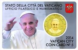 2014 - VATICANO - VATIKAN -  COIN CARD N° 5 ANNO 2014- H29062012.... - Vaticano
