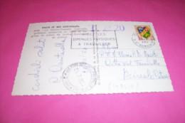 TIMBRE OBLITERATION FLAMME°  LA SAINTE CHAPELLE  PARIS RUE ST ROMAIN LE 21 07 1960 TAXE 20 POUR L'ITALIE - Marcophilie (Lettres)