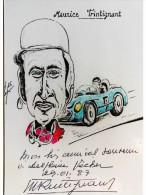 Automobile - Maurice TRINTIGNANT - Dédicace - Hand Signed - Autographe Authentique  - - Grand Prix / F1