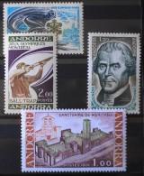 ANDORRE 1976 - Le N° 251 Et Du 255 Au 257  - 4 TIMBRES NEUFS** Y&T 5,60€ - Unused Stamps