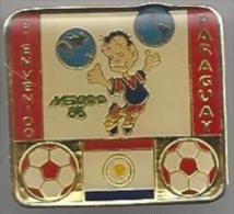 Pins Bienvenido. Mexico '86. Paraguay. Voetbal. Pins. Sport. STK 2191. FMF.85. - Voetbal
