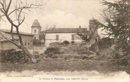 Cpa Du Château De Payras Près Parisot (81), Escribe, Bon état - Non Classés