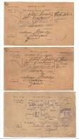 3 Bulletins De Sante SOLDAT BLESSE ET HOSPITALISE A REVIGNY - 1914-18