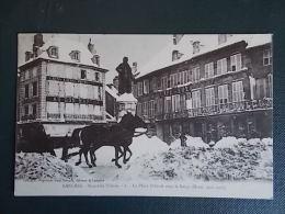LANGRES : NOUVELLE SIBERIE, LA PLACE DIDEROT SOUS LA NEIGE ( HIVER 1906-1907 ) - Langres